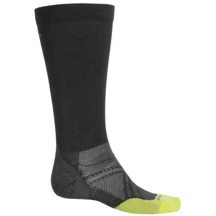 SmartWool PhD Run Ultralight Graduated Compression Socks - Merino Wool, Over the Calf (For Men and Women) in Black - 2nds
