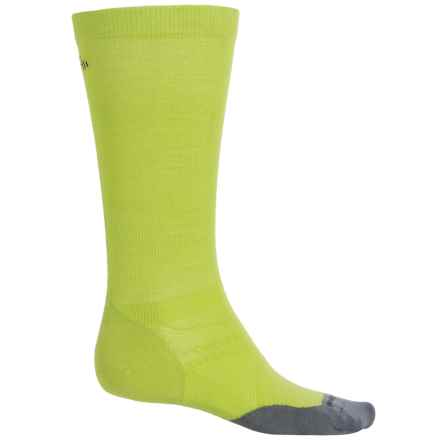 SmartWool PhD Run Ultralight Graduated Compression Socks - Merino Wool, Over the Calf (For Men and Women) in Smartwool Green - 2nds