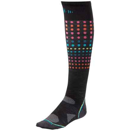 SmartWool PhD Run Ultralight Knee-High Socks - Merino Wool, Over the Calf (For Women) in Black - 2nds