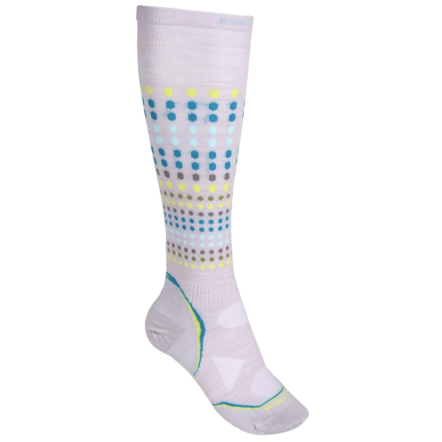Knee-High Socks have terry knit feet and shafts.