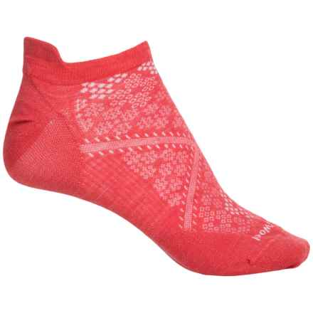 SmartWool PhD Run Ultralight Micro Socks - Merino Wool, Ankle (For Women) in Hibiscus - Closeouts