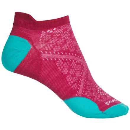 SmartWool PhD Run Ultralight Micro Socks - Merino Wool, Ankle (For Women) in Potion Pink - Closeouts