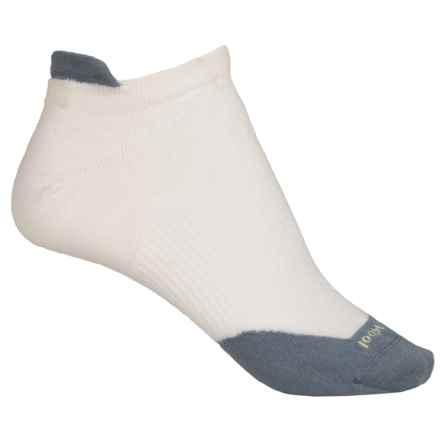 SmartWool PhD Run Ultralight Micro Socks - Merino Wool, Ankle (For Women) in Whte/Blue Steel - Closeouts