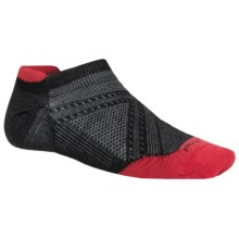 SmartWool PhD Run Ultralight Micro Socks - Merino Wool, Below the Ankle (For Men) in Black - 2nds