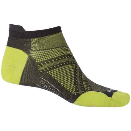SmartWool PhD Run Ultralight Micro Socks - Merino Wool, Below the Ankle (For Men) in Charcoal - 2nds