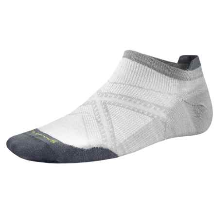 SmartWool PhD Run Ultralight Micro Socks - Merino Wool, Below the Ankle (For Men) in Silver - 2nds