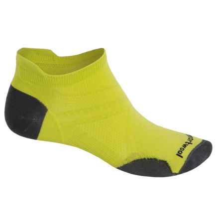SmartWool PhD Run Ultralight Micro Socks - Merino Wool, Below the Ankle (For Men) in Smartwool Green - 2nds