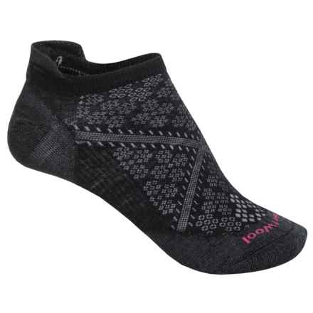 SmartWool PhD Run Ultralight Micro Socks - Merino Wool, Below-the-Ankle (For Women) in Black - 2nds
