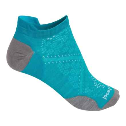 SmartWool PhD Run Ultralight Micro Socks - Merino Wool, Below-the-Ankle (For Women) in Capri - 2nds