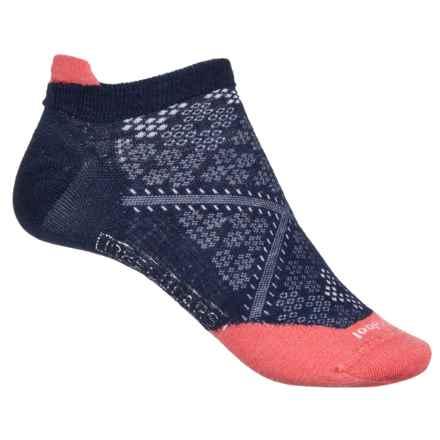 SmartWool PhD Run Ultralight Micro Socks - Merino Wool, Below-the-Ankle (For Women) in Desert Purple/Salmon - 2nds