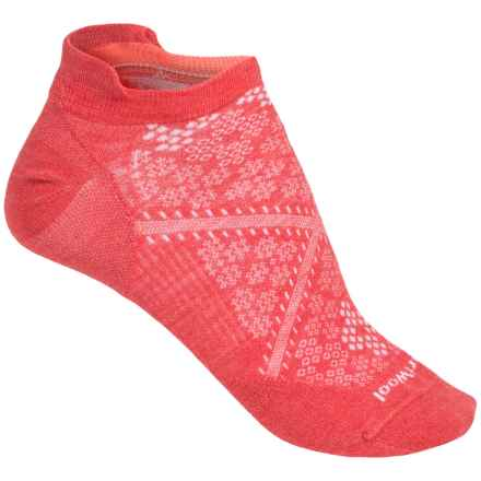 SmartWool PhD Run Ultralight Micro Socks - Merino Wool, Below-the-Ankle (For Women) in Hibiscus - 2nds