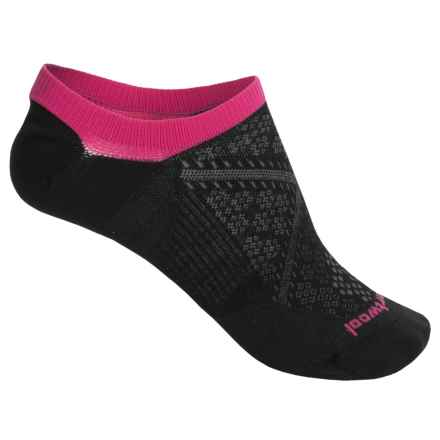 SmartWool PhD Run Ultralight No-Show Socks - Merino Wool, Below the Ankle (For Women) in Black - Closeouts