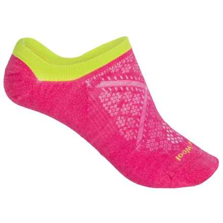 SmartWool PhD Run Ultralight No-Show Socks - Merino Wool, Below the Ankle (For Women) in Bright Pink - Closeouts