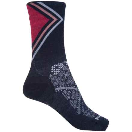 SmartWool PhD Run Ultralight Pattern Socks - Merino Wool, Crew (For Women) in Deep Navy - 2nds