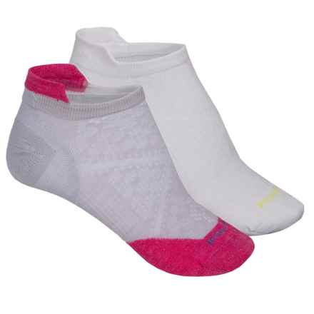 SmartWool PhD Run Ultralight Socks - 2-Pack, Merino Wool, Below the Ankle (For Women) in White/Bright Pink - Closeouts