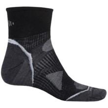 SmartWool PhD Run Ultralight Socks - Merino Wool, Ankle (For Men and Women) in Black/White - 2nds