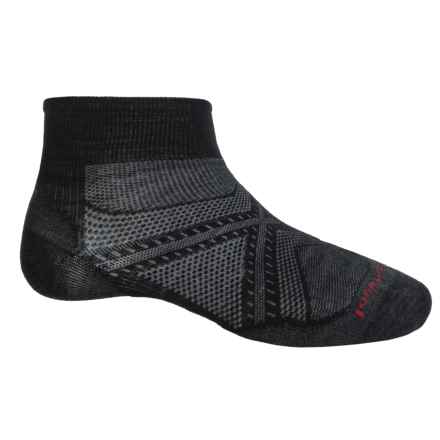 SmartWool PhD Run Ultralight Socks - Merino Wool, Ankle (For Men and Women) in Black - 2nds