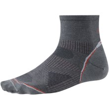 SmartWool PhD Run Ultralight Socks - Merino Wool, Ankle (For Men and Women) in Graphite - 2nds