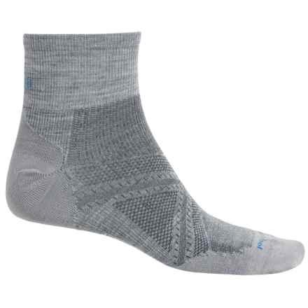 SmartWool PhD Run Ultralight Socks - Merino Wool, Ankle (For Men and Women) in Light Gray - 2nds
