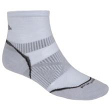 SmartWool PhD Run Ultralight Socks - Merino Wool, Ankle (For Men and Women) in Silver - 2nds