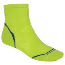 SmartWool PhD Run Ultralight Socks - Merino Wool, Ankle (For Men and Women) in Smartwool Green - 2nds