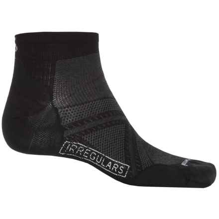SmartWool PhD Run Ultralight Socks - Merino Wool, Below the Ankle (For Men and Women) in Black/Black - 2nds