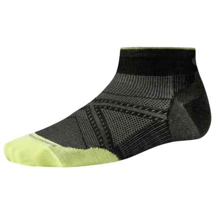 SmartWool PhD Run Ultralight Socks - Merino Wool, Below the Ankle (For Men and Women) in Black - 2nds