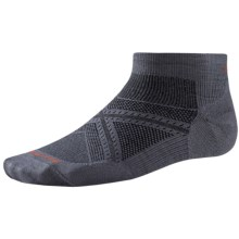 SmartWool PhD Run Ultralight Socks - Merino Wool, Below the Ankle (For Men and Women) in Graphite - 2nds