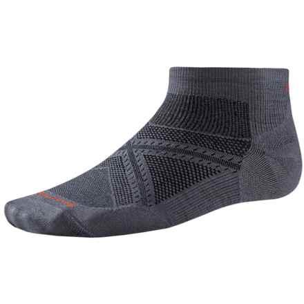SmartWool PhD Run Ultralight Socks - Merino Wool, Below the Ankle (For Men and Women) in Graphite - 2nds