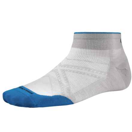 SmartWool PhD Run Ultralight Socks - Merino Wool, Below the Ankle (For Men and Women) in Silver - 2nds