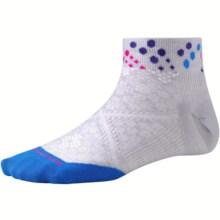 SmartWool PhD Run Ultralight Socks - Merino Wool, Below-the-Ankle (For Women) in Silver/Bright Blue - Closeouts