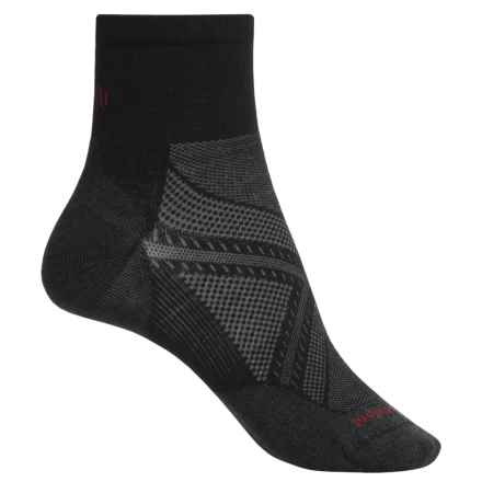 SmartWool PhD Run Ultralight Socks - Merino Wool, Quarter Crew (For Men and Women) in Black - Closeouts