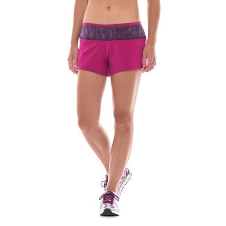 SmartWool PhD Running Shorts - Merino Wool, Built-In Briefs (For Women) in Berry