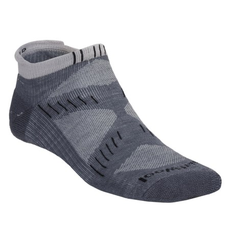 SmartWool PhD Running Socks - Ultra Light Cushion, Merino Wool, Micro Mini (For Men and Women) in Graphite/Silver