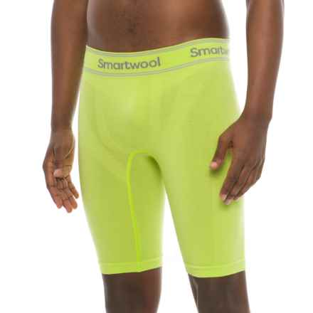 "SmartWool PhD Seamless Boxer Briefs - Merino Wool, 9"" (For Men) in Smartwool Green - Closeouts"