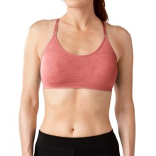 SmartWool PhD Seamless Liner Bra - Merino Wool (For Women) in Bright Coral - Closeouts