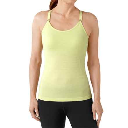 SmartWool PhD Seamless Long Bra - Merino Wool, Racerback (For Women) in Citron - Closeouts