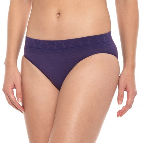 SmartWool PhD Seamless Panties - Merino Wool, Bikini Briefs (For Women) in Mountain Purple
