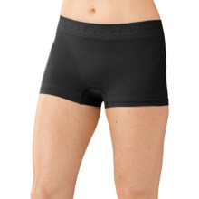 SmartWool PhD Seamless Panties - Merino Wool, Boy Shorts (For Women) in Black - Closeouts