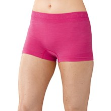 SmartWool PhD Seamless Panties - Merino Wool, Boy Shorts (For Women) in Bright Pink - Closeouts