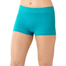 SmartWool PhD Seamless Panties - Merino Wool, Boy Shorts (For Women) in Capri - Closeouts