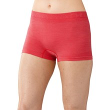 SmartWool PhD Seamless Panties - Merino Wool, Boy Shorts (For Women) in Hibiscus - Closeouts