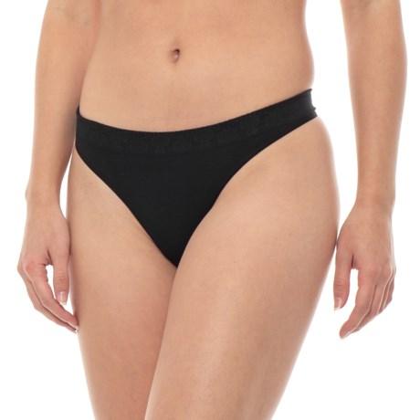 SmartWool PhD Seamless Panties - Merino Wool, Thong (For Women) in Black