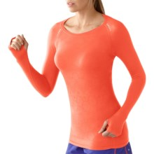 SmartWool PhD Seamless Run Shirt - Merino Wool, Long Sleeve (For Women) in Poppy - Closeouts