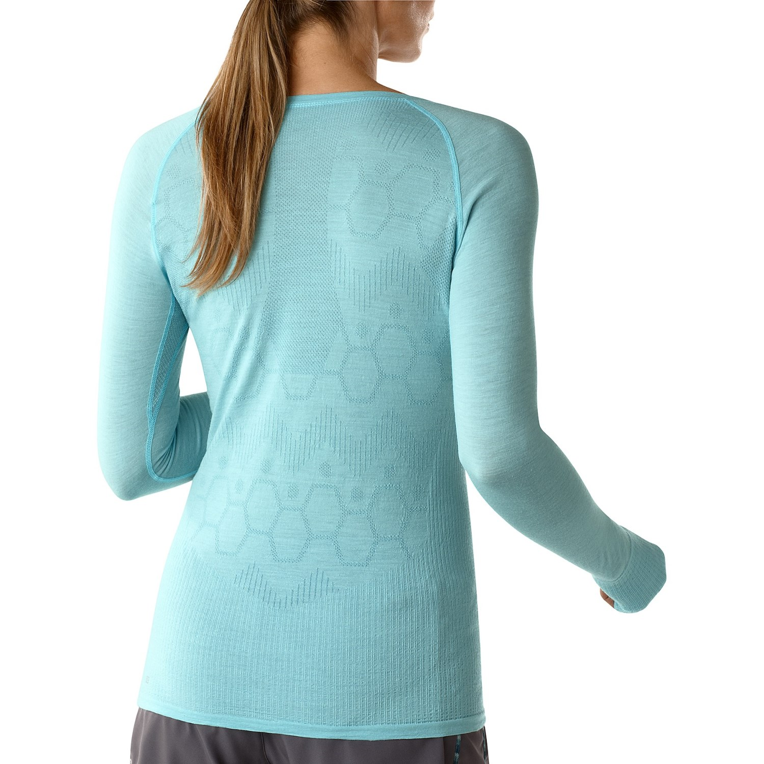 Smartwool phd seamless run shirt for women 9145h for Merino wool shirt womens