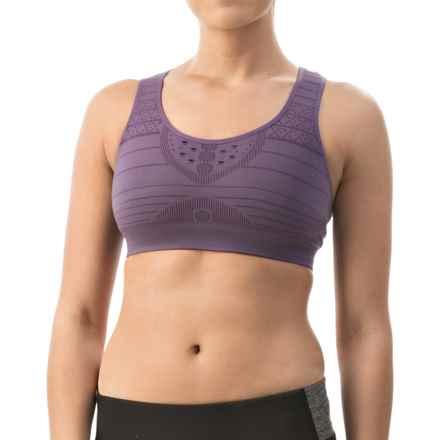 SmartWool PhD Seamless Sports Bra - Medium Impact, Racerback (For Women) in Desert Purple - Closeouts