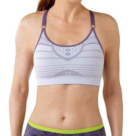 SmartWool PhD Seamless Strappy Sports Bra - Low Impact (For Women) in Iris - Closeouts