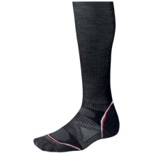 SmartWool PhD Ski Graduated Compression Light Socks - Merino Wool, Crew (For Men and Women) in Black - Closeouts