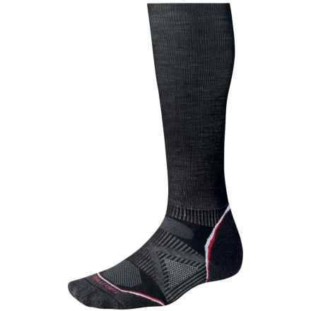 SmartWool PhD Ski Graduated Compression Light Socks - Merino Wool, Crew (For Men and Women) in Black - Closeouts