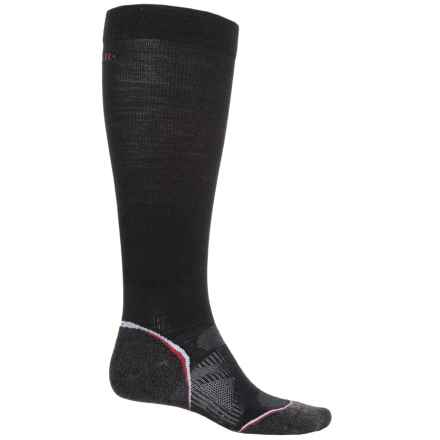 SmartWool PhD Ski Graduated Compression Light Socks - Over the Calf (For Men and Women) in Black - 2nds